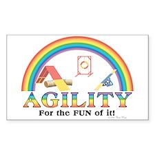 Agility Rainbow Sticker (Rect.)