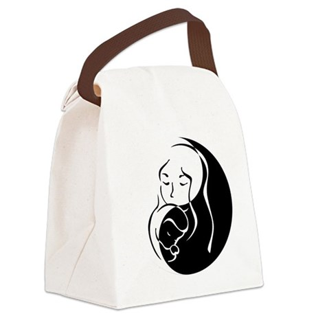 Zen Mama and Babe Canvas Lunch Bag