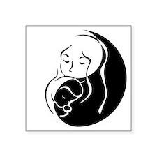 """Zen Mama and Babe Square Sticker 3"""" x 3"""""""