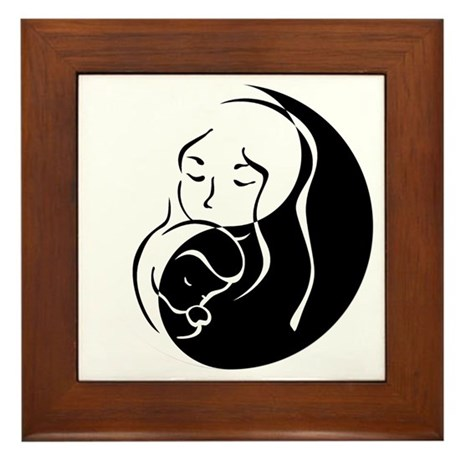 Zen Mama and Babe Framed Tile