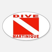 Dive Martinique Oval Decal