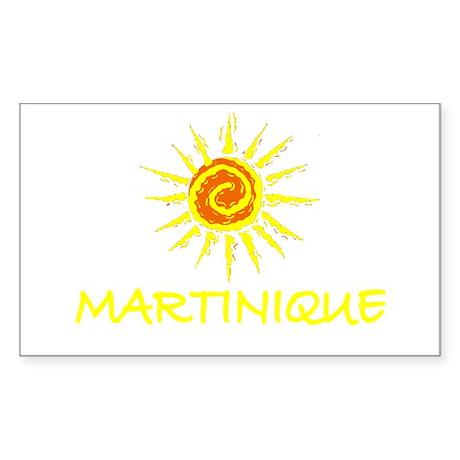 Martinique Rectangle Sticker