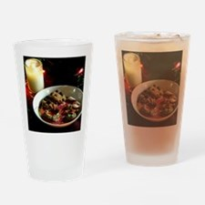 Christmas Cookie Candle Drinking Glass