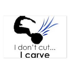 I don't cut, I carve Postcards (Package of 8)