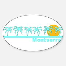 Montserrat Oval Decal