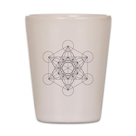 Metatrons cube Shot Glass