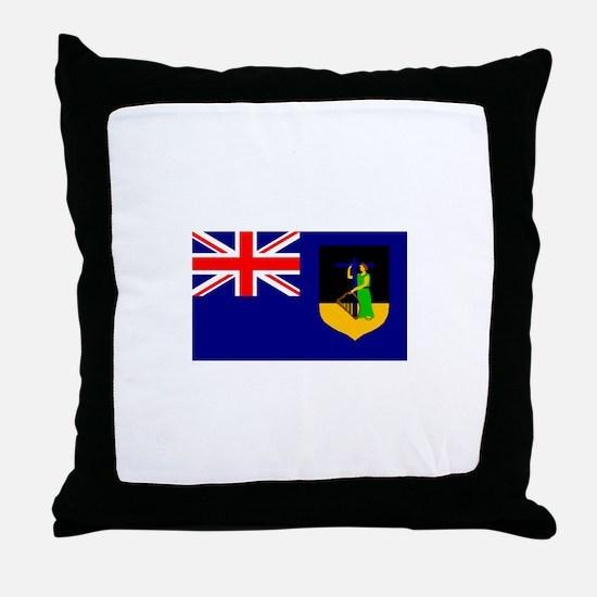 Montserrat Flag (Dark) Throw Pillow