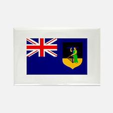 Montserrat Flag (Dark) Rectangle Magnet