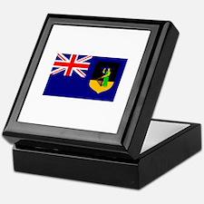 Montserrat Flag (Dark) Keepsake Box