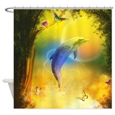 cd_Round Tablecloth 1174_H_F Shower Curtain