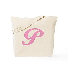 P Initial Tote Bag