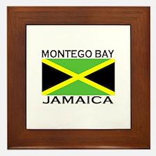 Montego Bay, Jamaica Flag Framed Tile