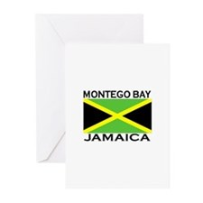 Montego Bay, Jamaica Flag Greeting Cards (Package