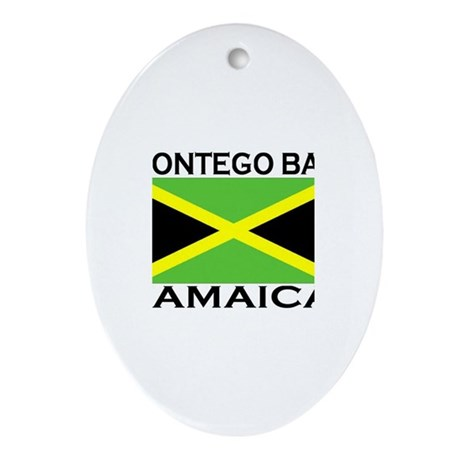 Montego Bay, Jamaica Flag Oval Ornament