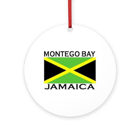 Montego Bay, Jamaica Flag Ornament (Round)