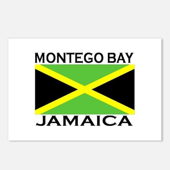 Montego Bay, Jamaica Flag Postcards (Package of 8)