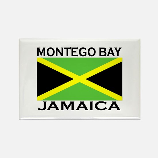 Montego Bay, Jamaica Flag Rectangle Magnet