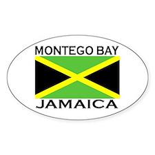Montego Bay, Jamaica Flag Oval Decal