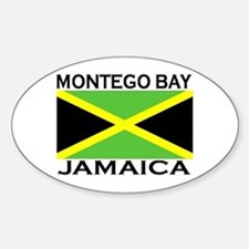 Montego Bay, Jamaica Flag Oval Decal