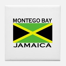 Montego Bay, Jamaica Flag Tile Coaster