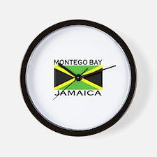 Montego Bay, Jamaica Flag Wall Clock