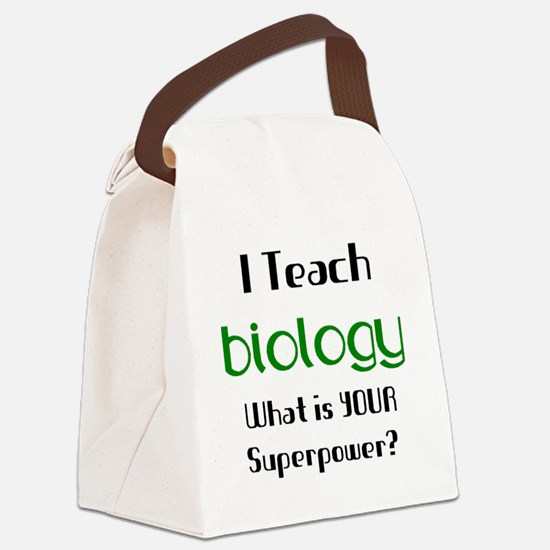 teach biology Canvas Lunch Bag