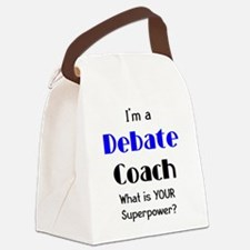 debate coach Canvas Lunch Bag