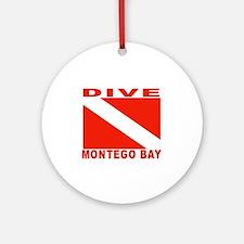 Dive Montego Bay, Jamaica Ornament (Round)