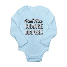 Real Men Change Diapers Body Suit