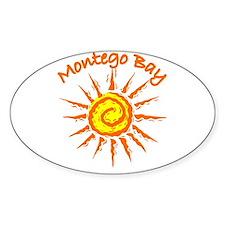 Montego Bay, Jamaica Oval Decal