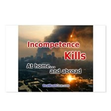 """Incompetence Kills"" Postcards (8)"