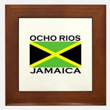 Ocho Rios, Jamaica Flag Framed Tile
