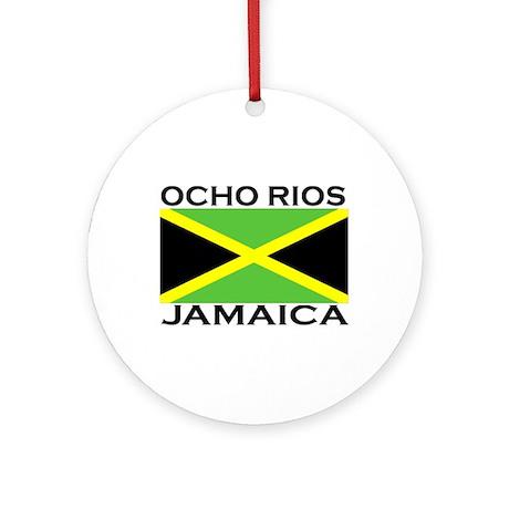 Ocho Rios, Jamaica Flag Ornament (Round)