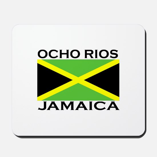 Ocho Rios, Jamaica Flag Mousepad