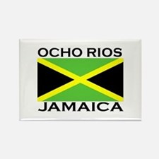 Ocho Rios, Jamaica Flag Rectangle Magnet