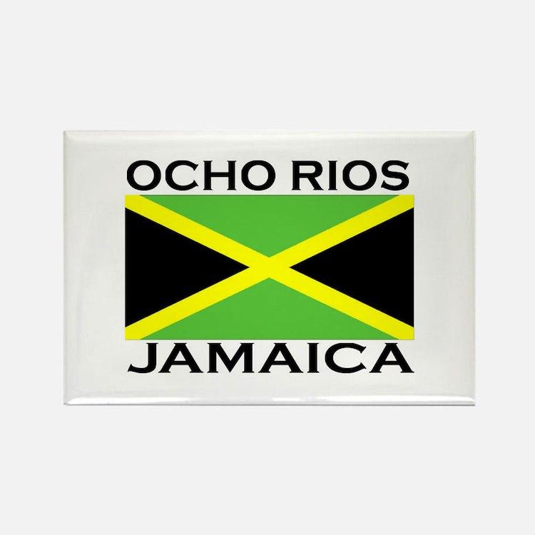 Ocho Rios, Jamaica Flag Rectangle Magnet