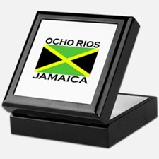 Ocho Rios, Jamaica Flag Keepsake Box