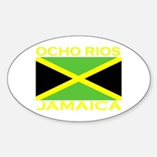 Ocho Rios, Jamaica Flag (Dark Oval Decal
