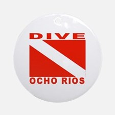 Dive Ocho Rios, Jamaica Ornament (Round)