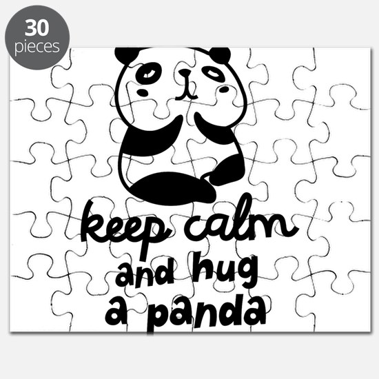 Keep Calm And Hug A Panda Puzzle