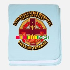 Army - 12th Evacuation Hospital V1 w SVC Ribbon ba