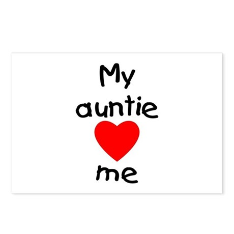 My auntie loves me Postcards (Package of 8)