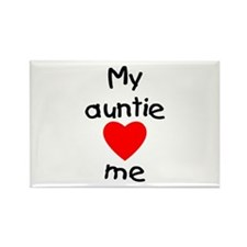 My auntie loves me Rectangle Magnet