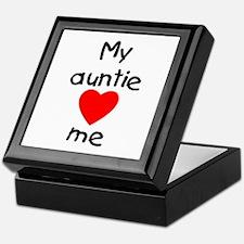 My auntie loves me Keepsake Box