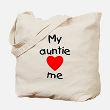 My auntie loves me Tote Bag