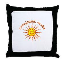 Oranjestad, Aruba Throw Pillow