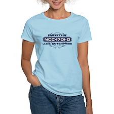 Property of USS Enterprise 1701-D (Blue) T-Shirt
