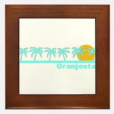 Oranjestad, Aruba Framed Tile