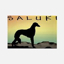 Saluki Dog Desert Rectangle Magnet (10 pack)
