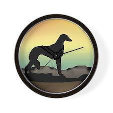 Saluki Dog Desert Wall Clock